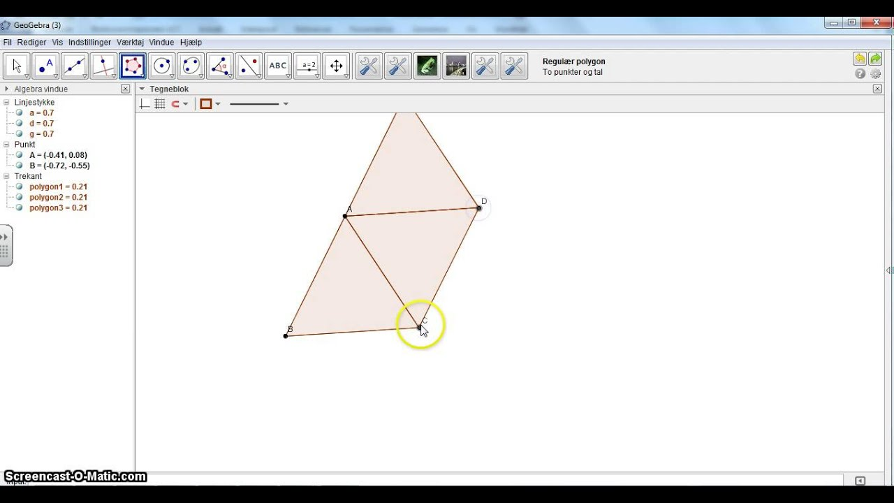 Tesselering med regulære polygoner
