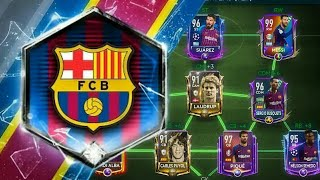FULL FC BARCELONA SPECIAL CARD SQUAD BUILDER IN FIFA MOBILE 19!!!!!!