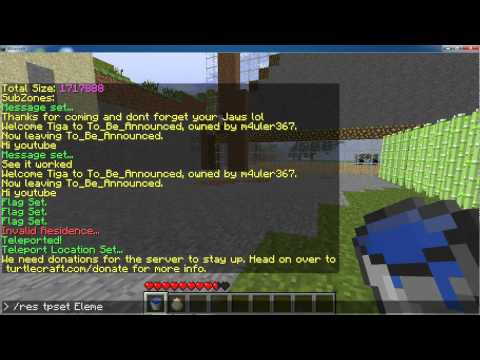 Tutorial On Commands For Residence Plugin For Minecraft