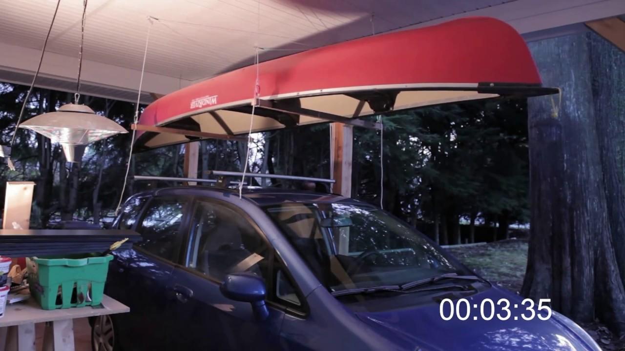 Building a Hoist for a Canoe or Kayak in a Carport Garage - LHP