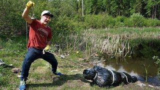 Эту жуткую находку мы нашли на болоте с помощью поискового магнита