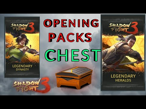 Shadow Fight 3 opening Herald & Dynasty Legendary BOOSTER PACK | epic chest | duels
