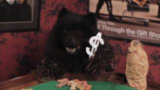 Thug dog waves his bling! Funny dogs playing poker outtakes