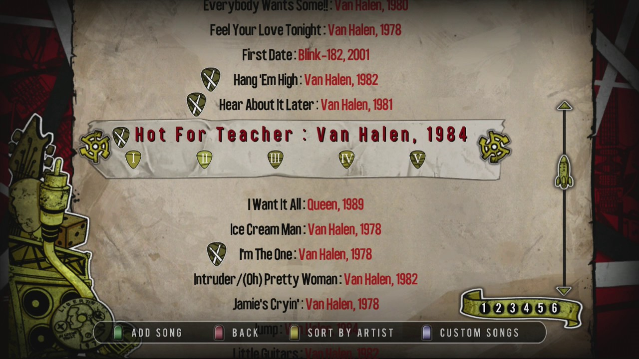 Guitar Hero Van Halen Songlist Youtube