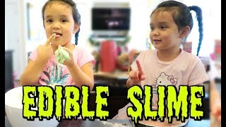 Trying Edible Slime! -  ItsJudysLife Vlogs