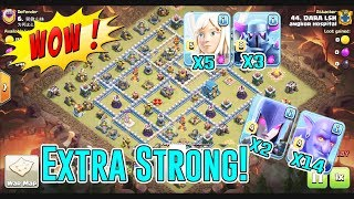 WOW EXTRA STRONG!! QUEEN CHARGE+BOWLER PEKKA WITCH DESTROY TH12 3-STAR ( Clash of Clans )