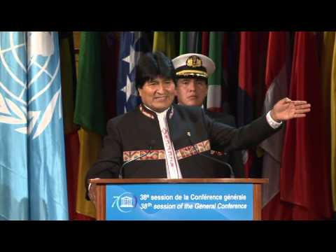 H.E. Mr. Evo Morales Ayma, President of the Plurinational State of Bolivia, addressed the plenary