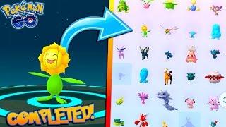 completing the generation 2 evolution item pokedex evolving to new sunflora in pokemon go