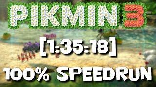 Perfect Pikmin 3 - 100% Segmented Speedrun (All Fruits|No Deaths|10 Days)