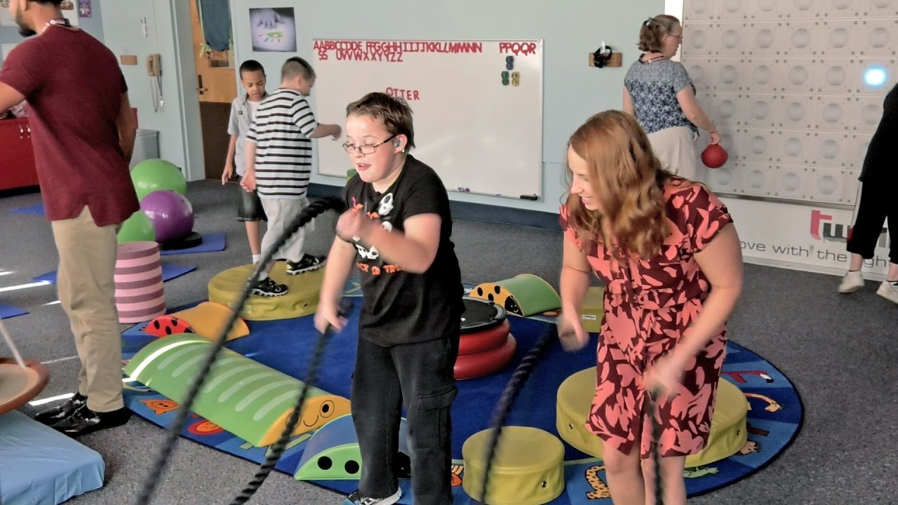 The Sensory Room Helping Students With Autism Focus Learn Youtube