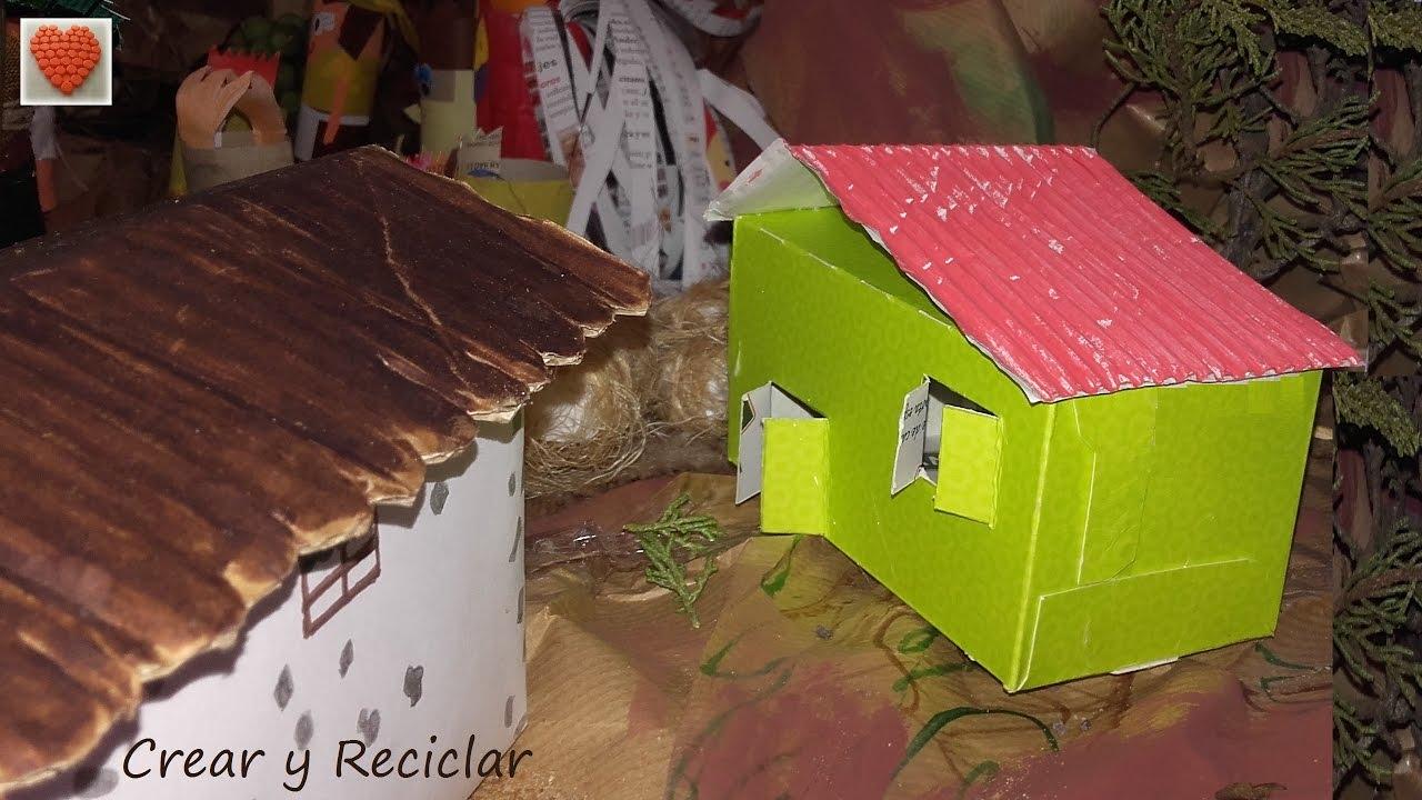 C mo hacer una casita de cart n para el colegio muy f cil diy youtube - Cosas de navidad para hacer en casa ...