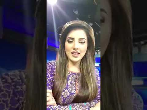 World famous News Anchor Kiran Naz Was gone on air for her friends.