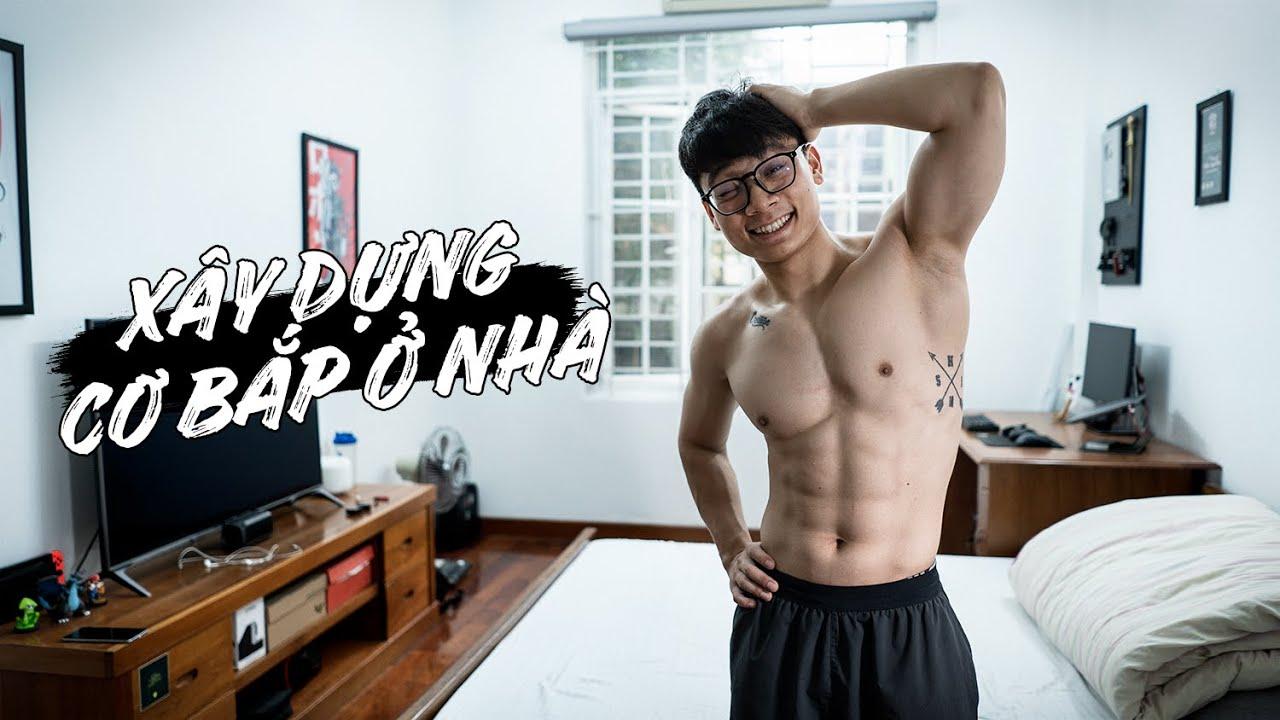 Biến PHÒNG NGỦ thành PHÒNG TẬP xây dựng cơ bắp TOÀN THÂN | Full Body Home Workout | SHINPHAMM