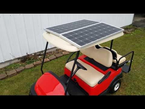 Solar Golf Cart Charger 200 Watt 10 Miles Per Charge Hot Item