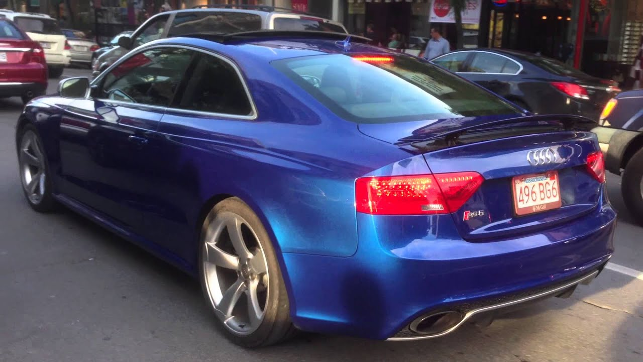 blue audi rs5 passing by youtube. Black Bedroom Furniture Sets. Home Design Ideas