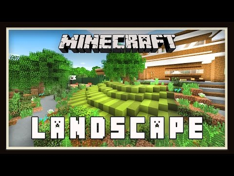 minecraft tutorial: making a zen garden design (modern build house