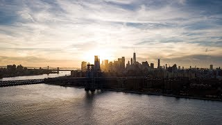 New York City sunset in 4k - From Brooklyn to Manhattan- #NYC5bdm