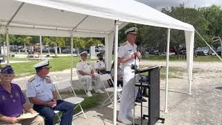 Admiral Craig S. Faller joins the Miami Military Museum to honor Purple Heart Recipients