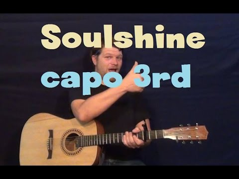 Soulshine (Allman Brothers/Warren Haynes) Easy Strum Guitar Lesson How to Play Tutorial