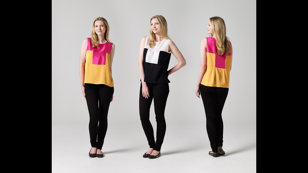 How to Make a Two-Tone Singlet - Teach Me Fashion - FREE Sewing ...