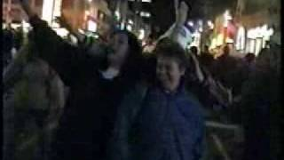Jays Win in 92 and I filmed the party in the streets.