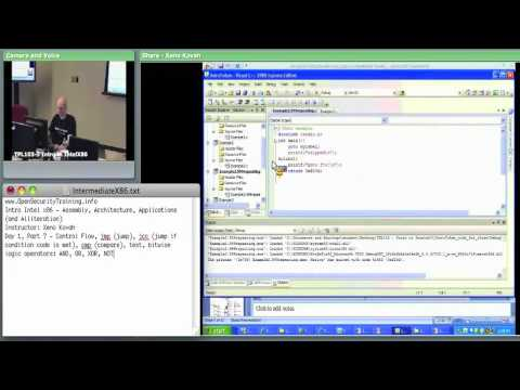 Day 1 Part 4: Introductory Intel x86: Architecture, Assembly, Applications