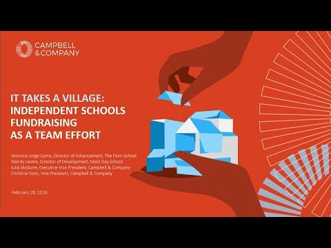 It Takes a Village: Independent Schools Fundraising as a Team Effort