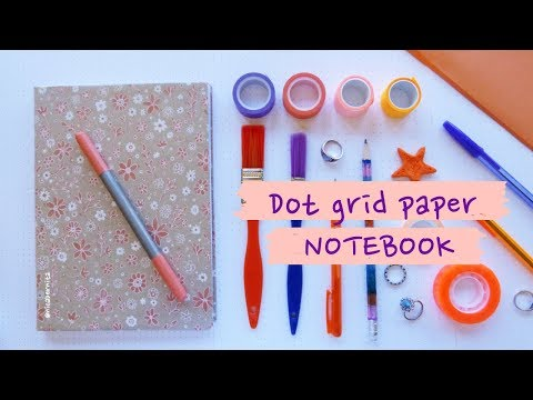 SCHOOL CRAFTS: HOW TO MAKE A NOTEBOOK? 💛 DIY: DOT GRID BULLET JOURNAL NOTEBOOK 💜  BOOK BINDING