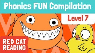 Fun Phonics | Level 7 | ch, ck, sh, th, TH | How to Read | Made by Red Cat Reading