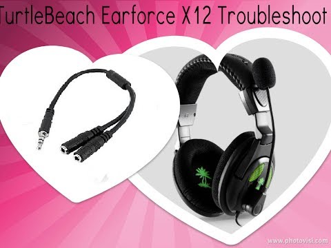 Gaming Headset - How To Set Up With Only One Jack,  Troubleshooting, Noise Removal (Turtlebeach X12)