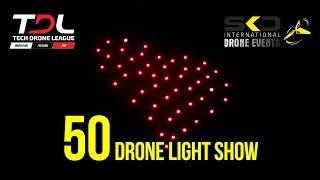 Tech Drone League ve SKD Drone'dan 50 Drone İle ışıklı Drone Gösterisi! Türkiye'de İlk!