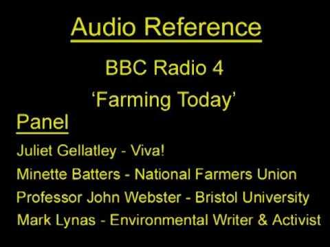 Vegan Debate - Juliet Gellatley (Viva!), Professor John Webster, Minette Batters (NFU) & Mark Lynas