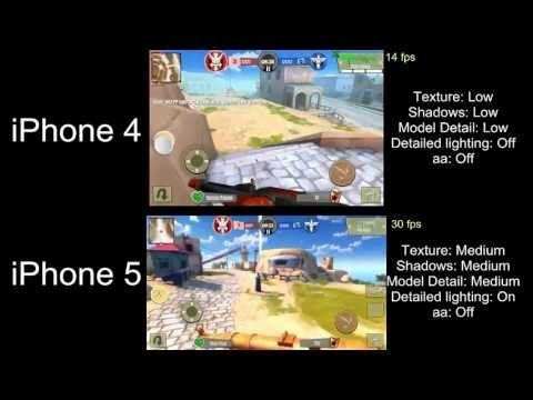 iPhone 4 vs iPhone 5 recording and fps comparison