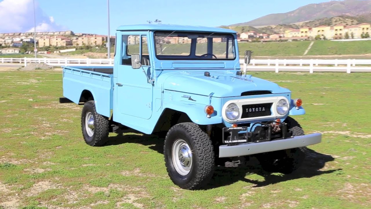 1965 Fully Restored Fj45 Long Bed Land Cruiser For Sale Youtube 1973 Toyota Original