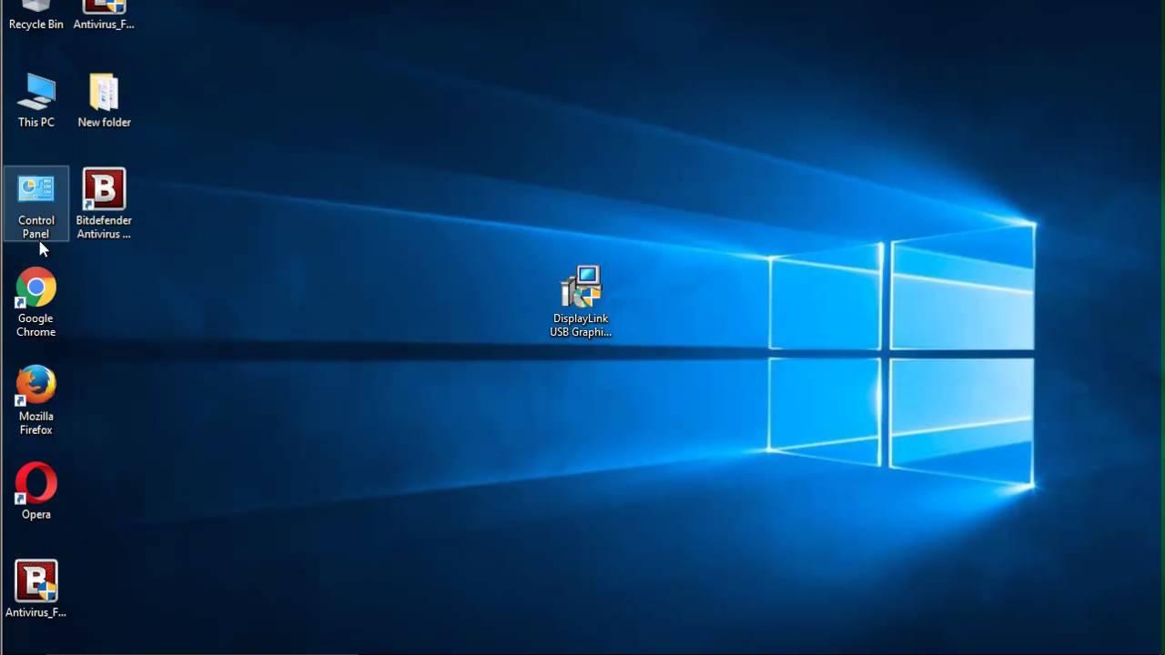 Uninstall displaylink software