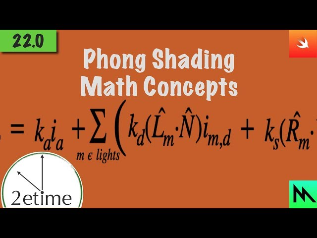 22: Phong Shading Math Concepts | Swift Game Engine