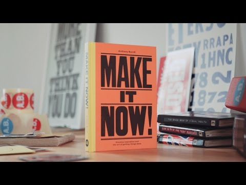 Make It Now! By Anthony Burrill: Making the Cover
