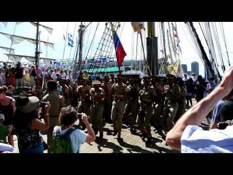 Dewaruci Crew Dance - Boston Tall Ships 2012