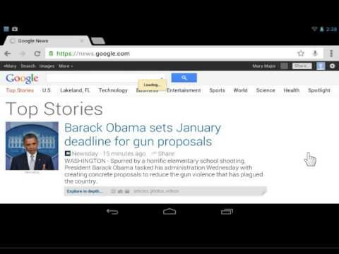 Google Nexus Find Text on a Web Page