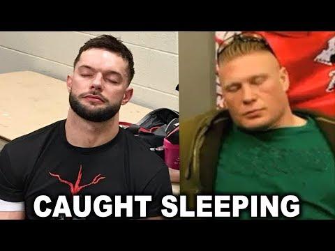10 WWE Wrestlers Caught Sleeping - Brock Lesnar, Finn Balor & more