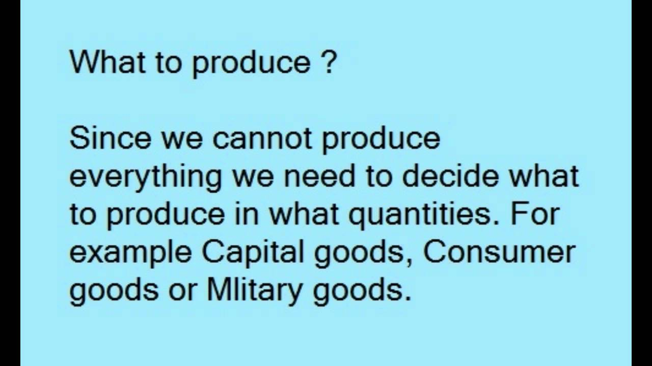 basic economic problem The economic problem and economic systems the economic activity of a society consists of activities related to the production and consumption of goods and services.