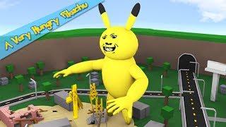 ROBLOX-A Very Hungry Pikachu-shooting dead Pika long