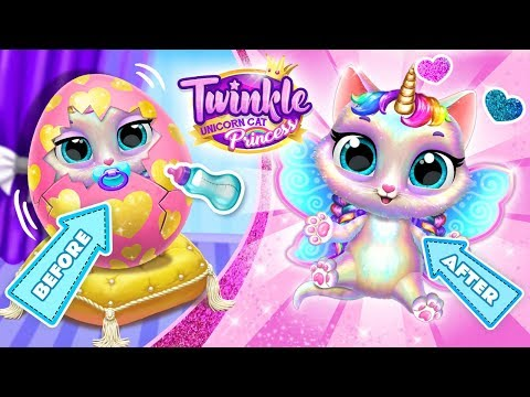 Adopt the Cutest Unicorn Kitty! Twinkle - Unicorn Cat Princess | Mobile Games for Toddlers
