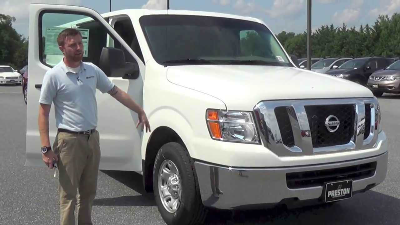 2013 nissan nv 2500 sv commercial van review by preston nissan of maryland and delaware youtube