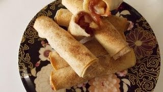 Apple Pie Egg Rolls - Baked
