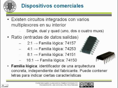 Circuitos combinacionales. multiplexores.© UPV