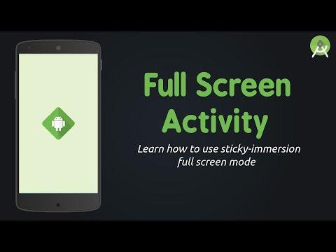 Full Screen Mode - Sticky Immersive | Android Studio