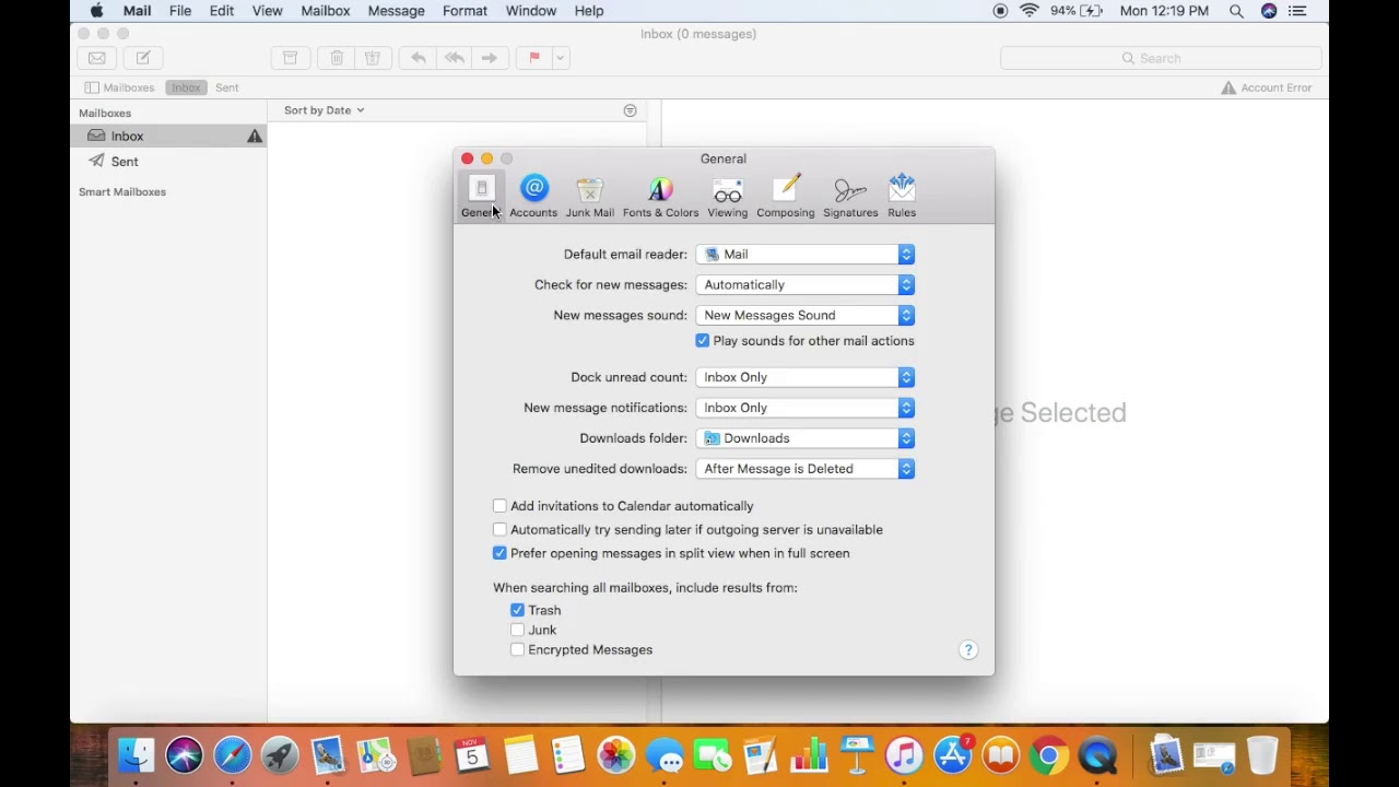How to add an Email Account to Mac Mail