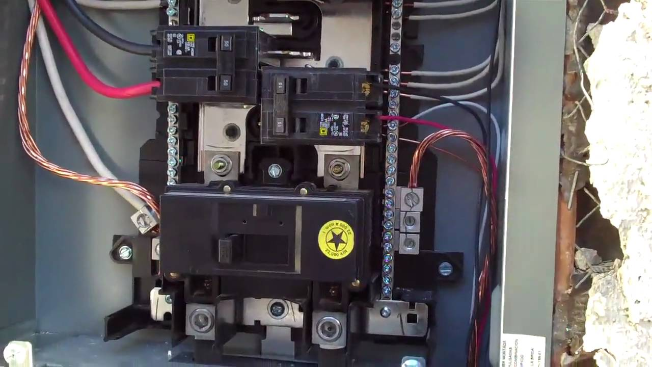 Electrical Panels : New Installation of a 200 Amp Square D Electrical Panel  YouTube