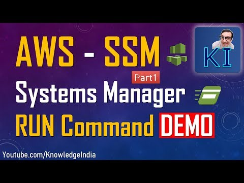 AWS - SSM - Systems Manager (Part 1) - RUN Command DEMO - Execute commands remotely